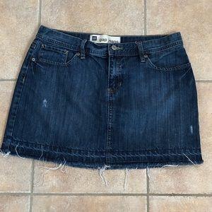Gap Mini Jean Skirt Size 10